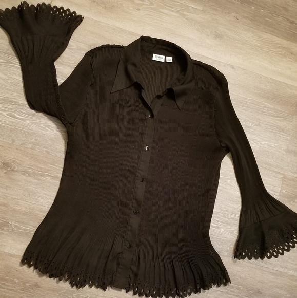 45af18c0 Cato Tops | Ribbed Black Blouse Size 1820 | Poshmark